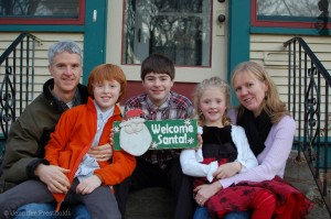 World Mom, Jennifer Prestholdt and her family celebrating their holidays
