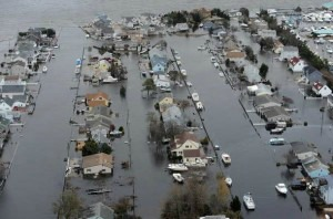 Sandy Flooded Homes