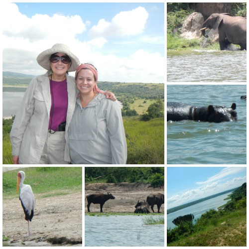 Queen Elizabeth National Park in Uganda. Jennifer Burden of World Moms Blog with Jenny Eckton of Formerly Phread.