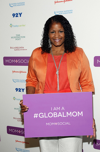 LaShaun Martin at the Mom + Social Summit on May 8th, 2013 in New York City.