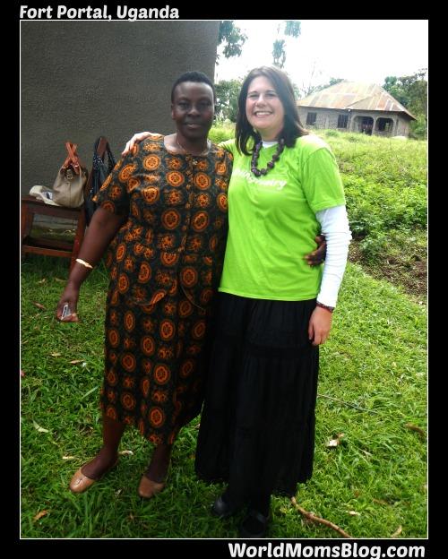 Elizabeth, a volunteer health worker in Fort Portal, Uganda with World Moms Blog Founder, Jennifer Burden on a Shot@Life trip October 2012.