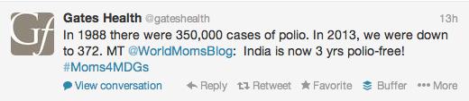 Gates Health #Moms4MDGs Polio Stat
