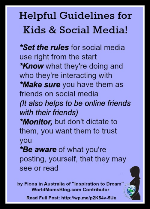 Media Guidelines For Kids Of All Ages >> Australia Keeping Our Children Safe With Social Media World Moms