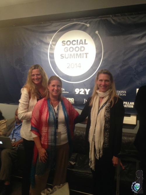 World Moms, Elizabeth Atalay, Kyla P'an and Nicole Melancon at the Social Good Summit in NYC.