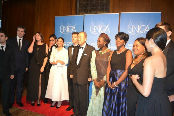UNCA Award Winners with Ban Ki Moon 2015 600
