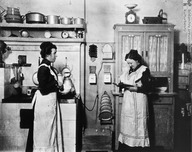 Domestic help in the kitchen