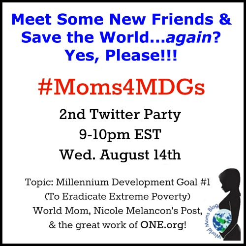MDG1 Twitter Party WMB ONE