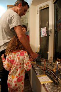 Lighting Chanukkah Candles