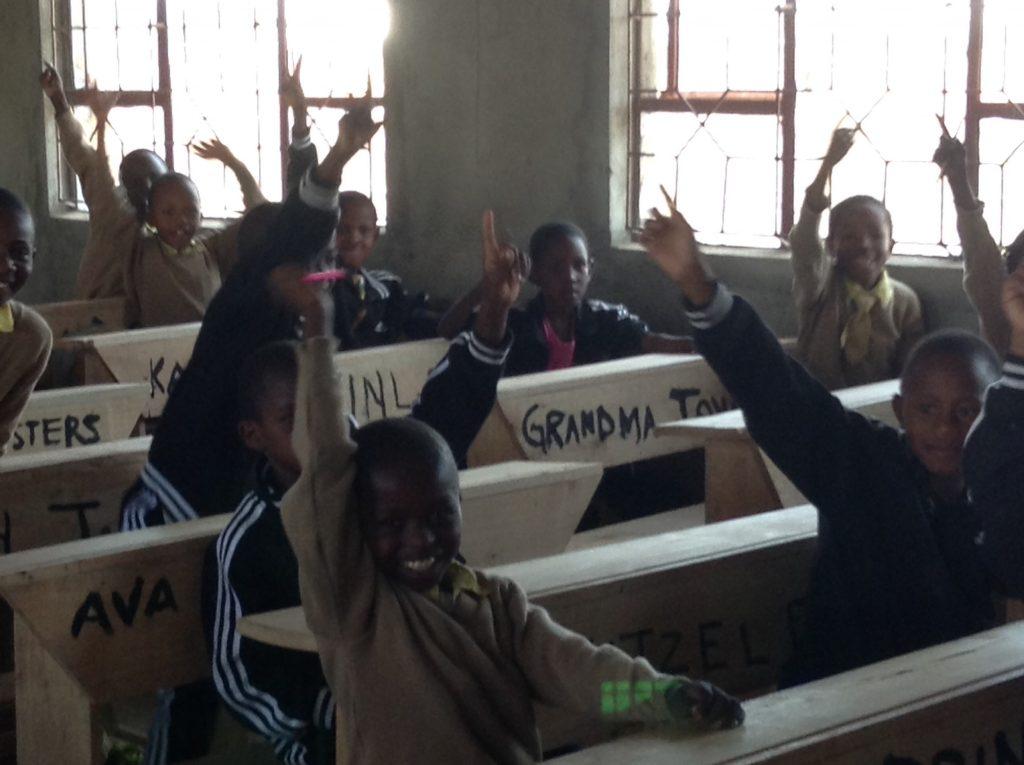 Personalized desks at the CHETI school. copy