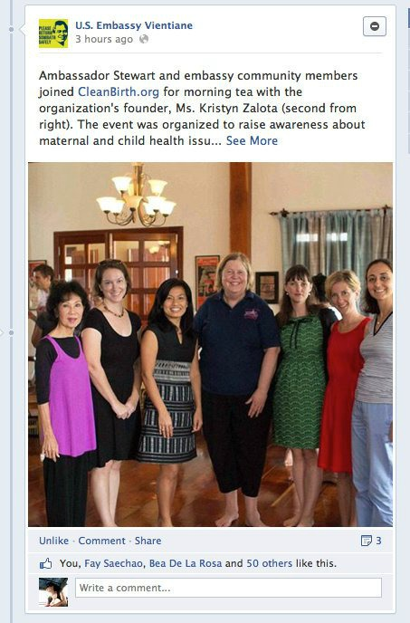 US Embassy Vientiane & Cleanbirth.org