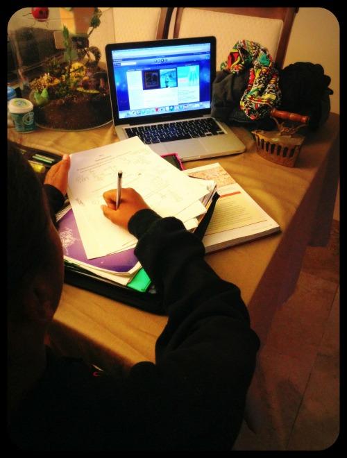 Daughter Doing Homework