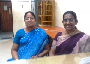 Mrs. Bhavani Baskar, The Vice-Principal (left) and Mrs. Jayashree Subramanian, Head-Mistress (right) of the PSBB Millennium School