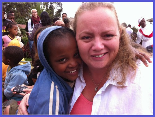 Michelle Pannell in Ethiopia advocating for world poverty with the ONE Campaign in 2012.
