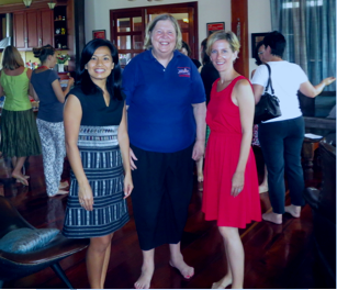Dee, Kristyn and the US Ambassador to Laos