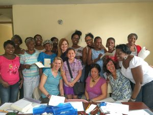 Our group meeting with the amazing women of OFEDA, all earthquake survivors.