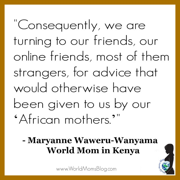 Online Replaces African Mother Advice