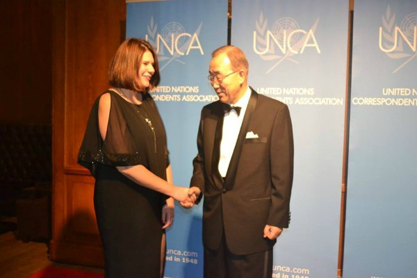 Jennifer Burden and Ban Ki Moon 2015UNCA 600