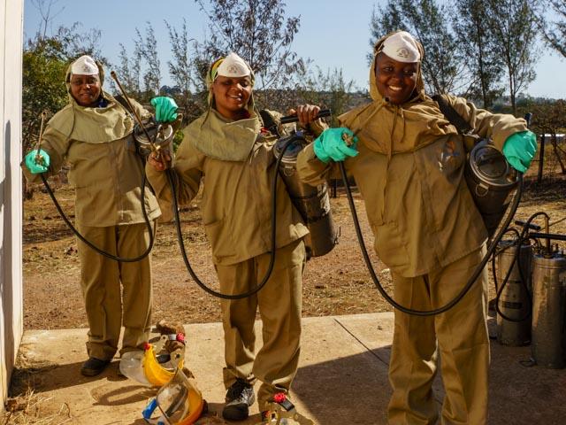 Goodbye Malaria Women Sprayers