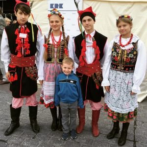 Visiting a local festival in Krakow