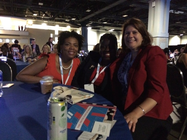 With women from the DC Rape Crisis Center in Washington, DC for the State of the World Women's Summit on June 15, 2016.