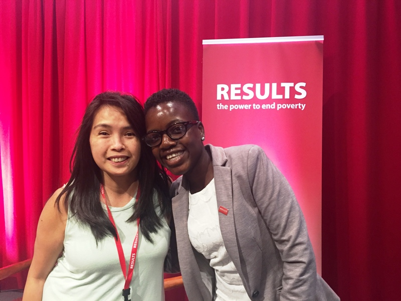 #WorldMom Tes Solomon Silverman with Loyce Maturu (Advocacy Officer, Africaid Zvandiri) from Zimbabwe